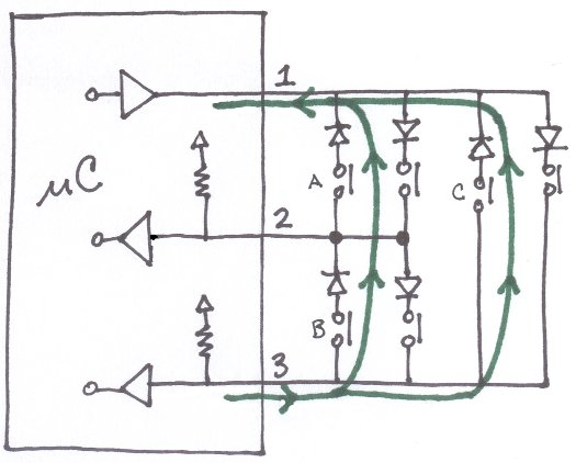 charliplexing schematic